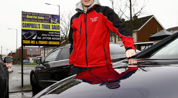 Deals on wheels: Armagh City's Shea Campbell at his car sales business