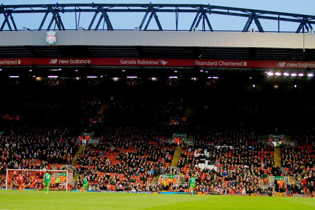 The Kop end after fans walk out on 77 minutes in protest over ticket prices