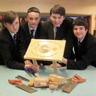 Breda Acadamy pupils Adam Gribben, Thomas Moore, Craig Johnston and Ethan Sloan came together to help finish their friend Adam McCormack's woodworking assignment.