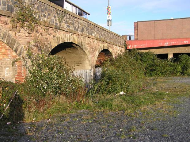 The eight derelict Lanyon Tunnels are below Belfast's East Bridge Street, beside Central Station