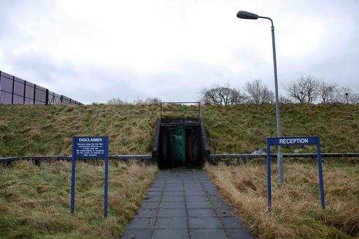 The entrance to the underground nuclear bunker