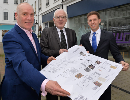 Richard Graham, owner of Alfredo's, with Allan Ewart, chairman of the economic development department at Lisburn and Castlereagh City Council and Nicky McCollum of Lisburn Square Limited