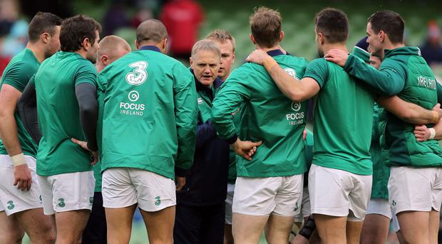 In the middle: Joe Schmidt is wary ahead of the trip to France
