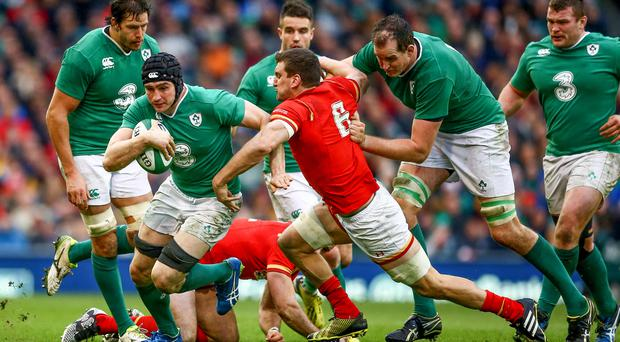 Strong showing: Tommy O'Donnell put in an impressive performance against Wales before his enforced departure