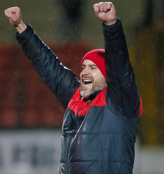 Glory shot: Reds boss Gerard Lyttle hopes the club can lift the League Cup for the fourth year in-a-row