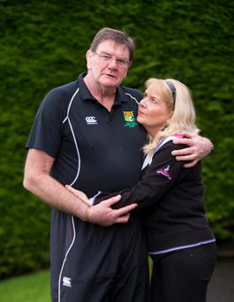 Willie Anderson with his wife Heather