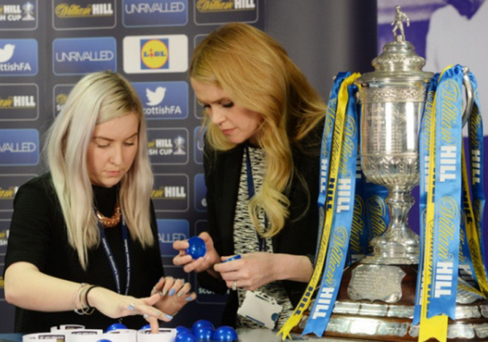 Try again: The draw for the quarter-final of the William Hill Scottish Cup is re-set after a ball was found to be open
