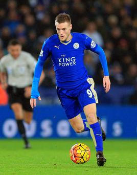 Hotshot: Jamie Vardy is leading Leicester's surprise title charge
