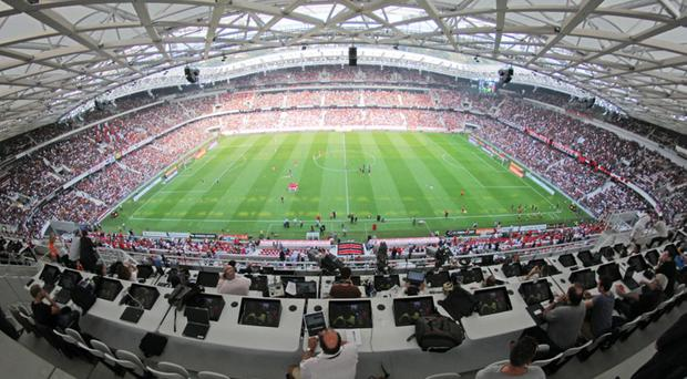 Grounds for concern: Northern Ireland's opening game at the Euro 2016 finals against Poland will take place at the Stade de Nice but many fans who expected tickets have received emails from Uefa informing them that they're set to miss out
