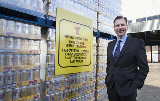 Alistair Campbell from Tennent's, which is printing nutritional information on its cans and bottles