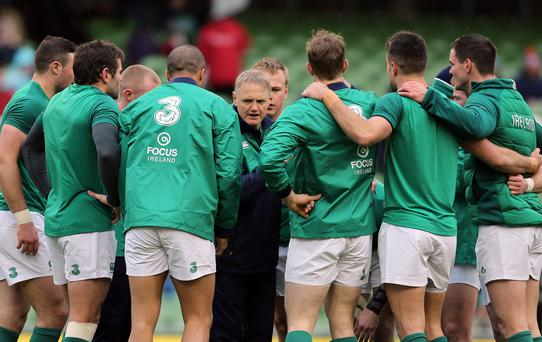 Joe Schmidt prepares his team.
