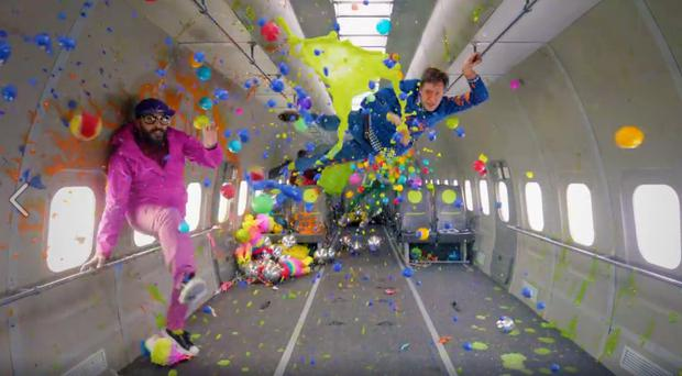 OK GO: Damian Kulash, Tim Nordwind, Andy Ross and Dan Konopka star in zero gravity video
