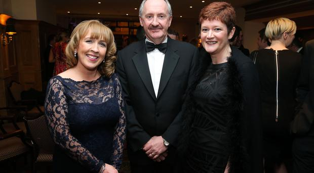 Michelle McAuley, Ken Henning and Andrea Cooper at the Institute of Directors NI Annual Dinner at the Europa Hotel on Thursday night. Sponsored by Bank of Ireland and Arthur Cox, the event is the highlight of the local business calendar and was attended by over 250 people. Picture by Kelvin Boyes / Press Eye.