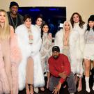 NEW YORK, NY - FEBRUARY 11: (L-R) Khloe Kardashian, Lamar Odom, Kris Jenner, Kendall Jenner, Kourtney Kardashian, Kanye West, Kim Kardashian, Caitlin Jenner and Kylie Jenner attend Kanye West Yeezy Season 3 on February 11, 2016 in New York City. (Photo by Jamie McCarthy/Getty Images for Yeezy Season 3)