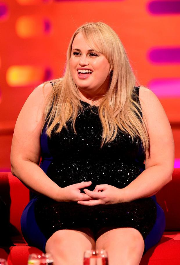 Rebel Wilson during filming of the Graham Norton Show. PRESS ASSOCIATION Photo.