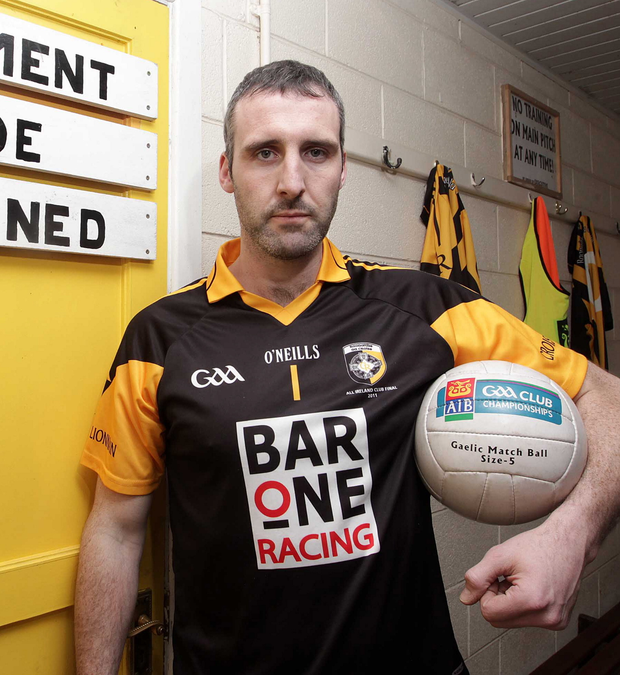 Paul Hearty in the Crossmaglen Rangers changing rooms