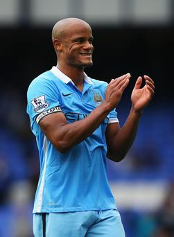 Back again: Vincent Kompany will hope for better luck this time after his last comeback attempt ended in another injury