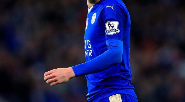 Dangerman: Jamie Vardy will be gunning for Arsenal tomorrow