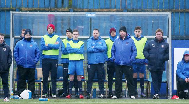On the sidelines: Ards have endured a turbulent past but are looking up under the guidance of Niall Currie