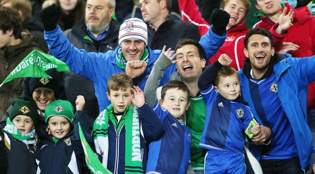 All smiles: Northern Ireland fans have received better news on the ticket front