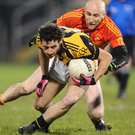 Crossing swords: Crossmaglen Rangers' Jamie Clarke wrestles with Tom Cunniffe
