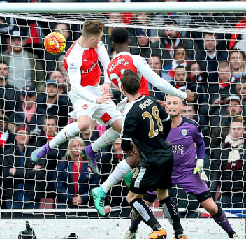 Just in time: Danny Welbeck scores the winner for Arsenal