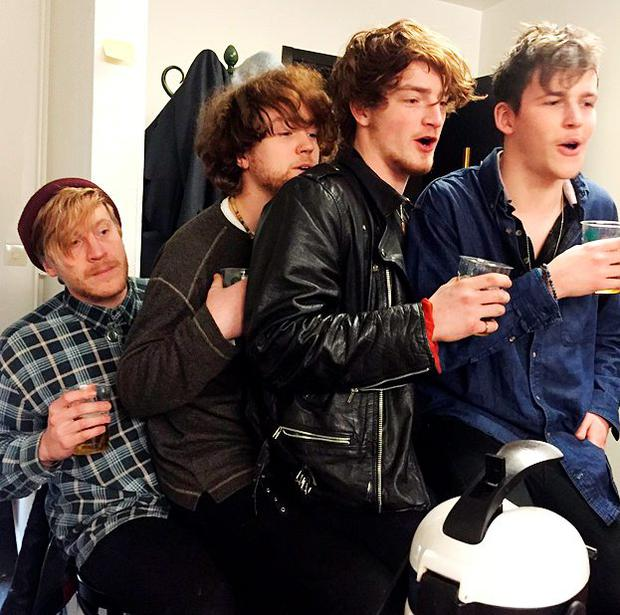 Viola Beach's Kris Leonard, River Reeves, Tomas Lowe and Jack Dakin, who died along with their manager Craig Tarry in an accident near Stockholm on Saturday