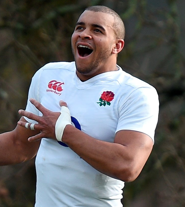 Treble yell: Jonathan Joseph hit a hat-trick against Italy