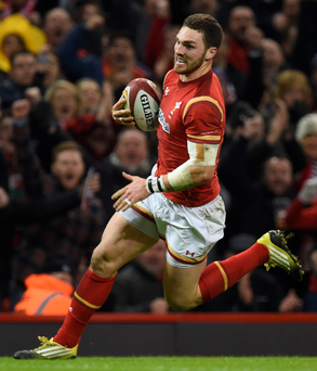 George North broke a barren run with a dazzling solo effort