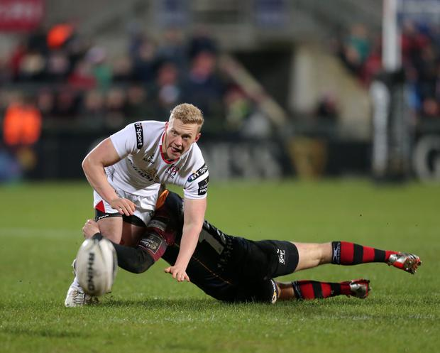 Ulster's Olding in action against the Newport Gwent Dragons.