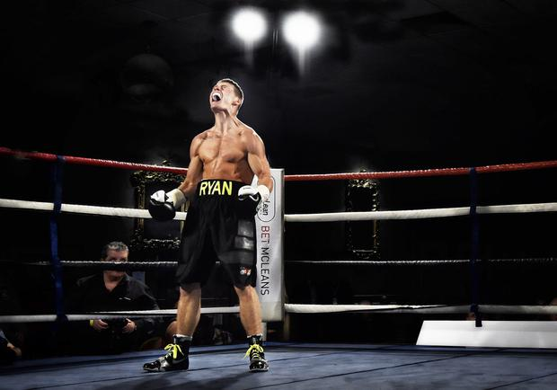 Fired up: Ryan Burnett aims to impress the fans when he fights on Carl Frampton's undercard in Manchester