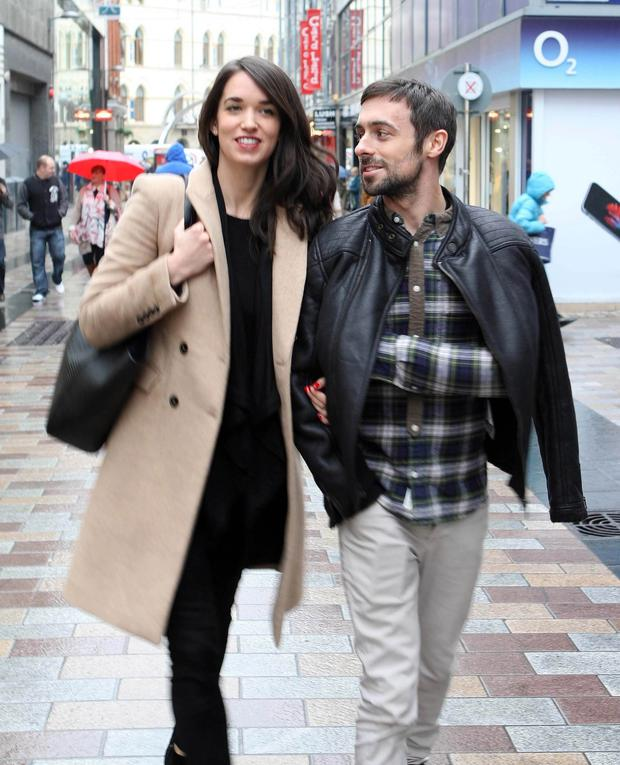 Quality time: Eugene Laverty with wife Pippa