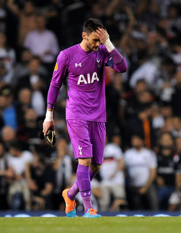 Sidelined: Spurs goalkeeper Hugo Lloris is out of tonight's Europa League fixture in Florence