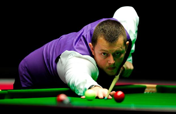 On a roll: Mark Allen won last night and is back in action today
