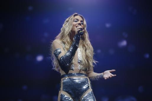 Winner Louisa Johnston performing on stage at The X Factor (UK) live tour at the SSE Arena in Belfast on February 17, 2016 Belfast, Northern Ireland ( Photo by Kevin Scott / Belfast Telegraph)