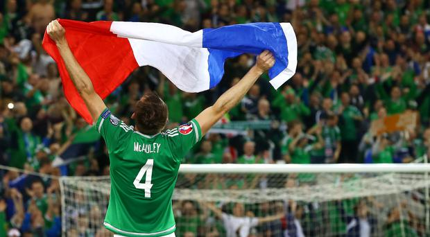 Final straight: Gareth McAuley and his men will take on Belarus at Windsor Park on May 27