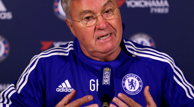 Relaxed approach: Chelsea manager Guus Hiddink
