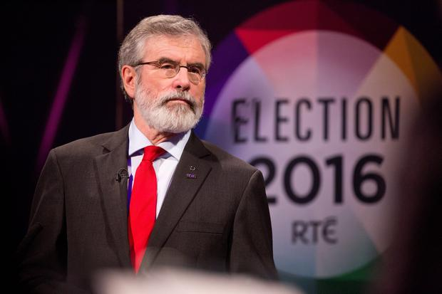 Gerry Adams, Sinn Fein at the RTE Claire Byrne Live Leaders Debate.