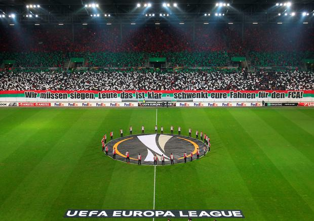AUGSBURG, GERMANY - FEBRUARY 18: A general view of the stadium prior to the UEFA Europa League round of 32 first leg match between FC Augsburg and Liverpool at WWK-Arena on February 18, 2016 in Augsburg, Germany. (Photo by Alexander Hassenstein/Bongarts/Getty Images)