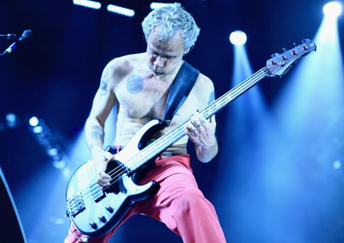 SAN FRANCISCO, CA - FEBRUARY 06: Recording artist Flea of Red Hot Chili Peppers performs onstage during DirecTV Super Saturday Night co-hosted by Mark Cuban's AXS TV at Pier 70 on February 6, 2016 in San Francisco, California. (Photo by Christopher Polk/Getty Images for DirecTV)