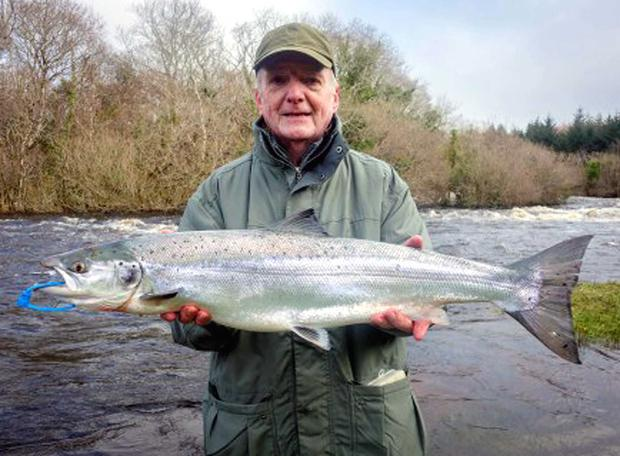 Perfect 10: Craigavon angler John Gallagher shows off his Drowes 10 pounder