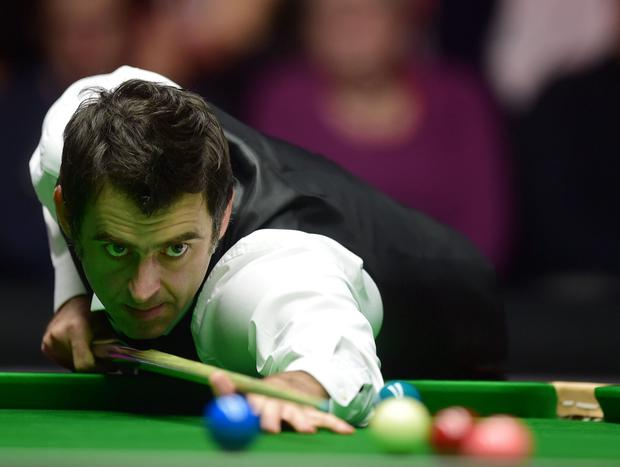 On the ball: Ronnie O'Sullivan will be in action at the Waterfront Hall in June as part of a series he hopes will shake up snooker