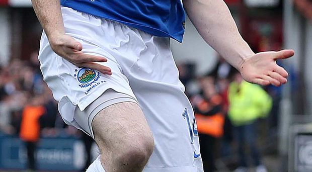 Big day: Aaron Burns is set for his 200th Linfield appearance