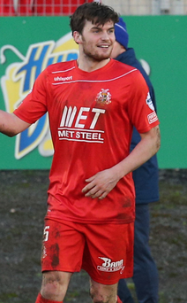 All smiles: Philip Lowry has been in fine form since joining Portadown