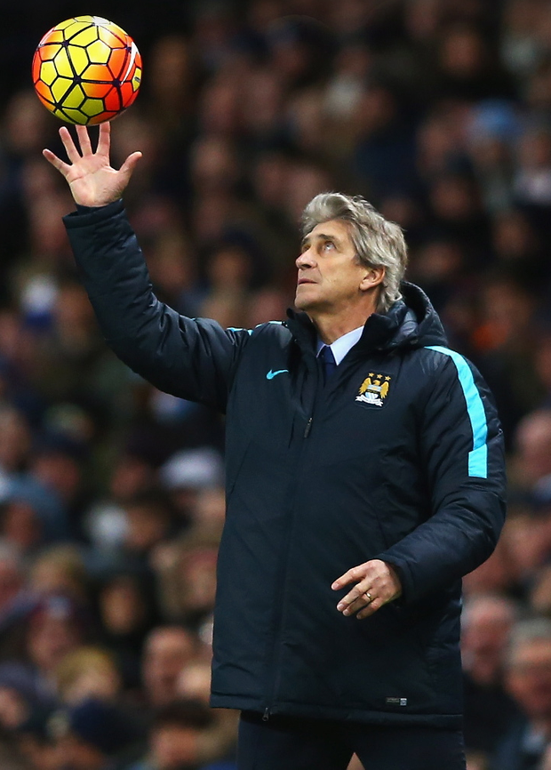 In the air: Manuel Pellegrini knows that a win over Chelsea could spark a hot streak... but defeat could be a real blow