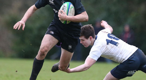 On the run: James Macartney of Campbell in full flow