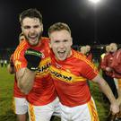 Castlebar Mitchels' Ger McDonnagh and Stephen Keane celebrate winning