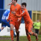 Mark Haughey shows his delight as he nets the winner in the comeback triumph