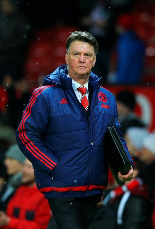 Fighting back: under-fire United boss Louis van Gaal has challenged his team to piece together a winning run