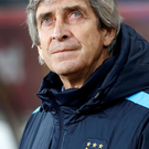 New look: Manuel Pellegrini gave five players full debuts